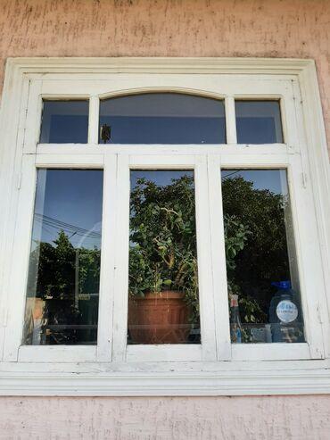 Ремонт и строительство - Кызыл-Кия: Окна б/у дерево. Размеры 1.5х1.5 м