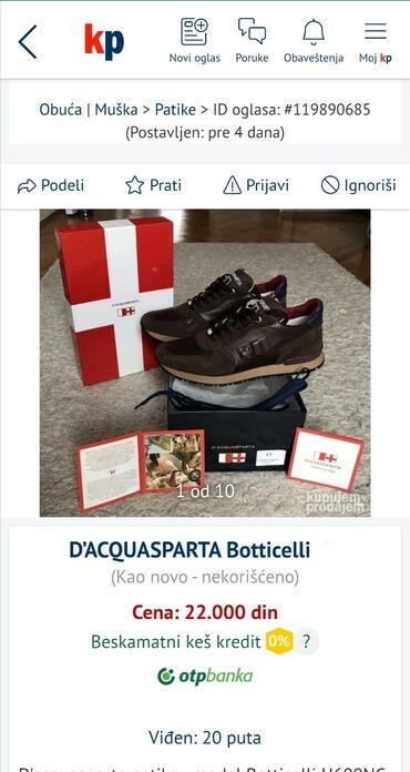 Personalni proizvodi - Srbija: D'Acquasparta Patika-cipelaoriginal placene 200eNigde