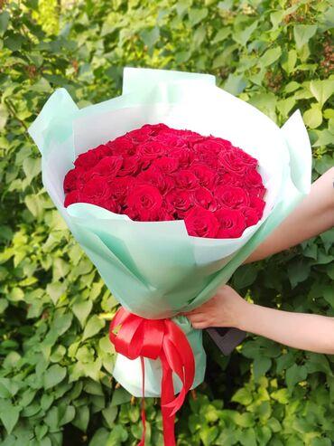 Розы акция 101 роза с оформлением 50см 101 розы 51 роза все