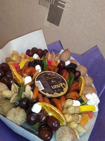 гул букет в Кыргызстан: Букет из сухофруктов отличный подарок вашему 🥳🥳💝🤩🎉💝🎊💐 Подарки из сухоф