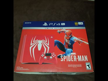 Bakı şəhərində Sony Playstation 4 Pro Spider-Man Amazing Red Limited Edition