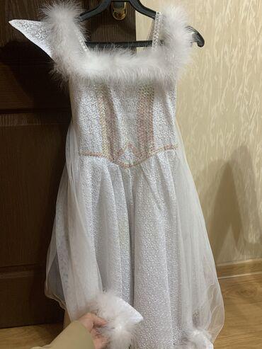 """летнее платье для женщины 50 лет в Кыргызстан: Платье """"Снежинка"""". Для деток 6-8 лет. Качество шикарное. Доставка по"""