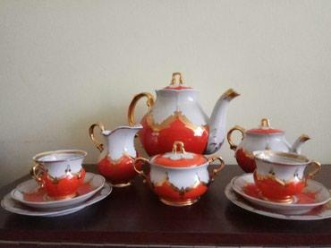 """тарелка блюдце в Кыргызстан: Чайный сервиз """"Красный Бутон"""" на 12 персон: Большой чайник на 3 л.;"""