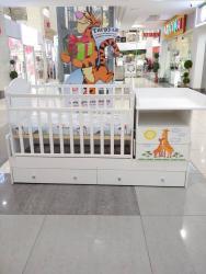 детские-вещи-бу в Кыргызстан: Тигруля  Спешите количество ограничено  Кроватка трансформер рисунок