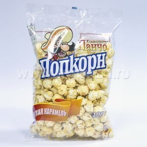 nlstar продукции в Кыргызстан: Попкорн, ТМ «Команданте Панчо», готовый карамельный лайт, в полипропил