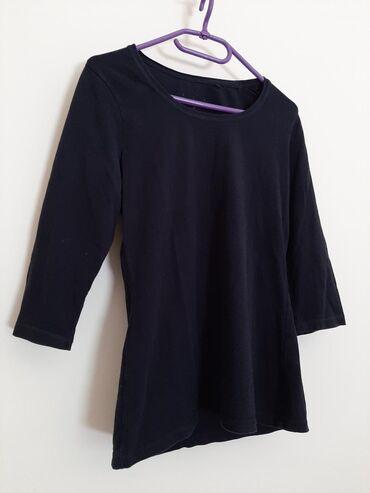 Majica dug - Srbija: Super materijal. Vel M. Crna bluza majica dugi rukav