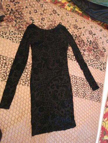 Черное платье бархат с узорами. Размер s. Xs. Состояние отличное. Каче в Бишкек