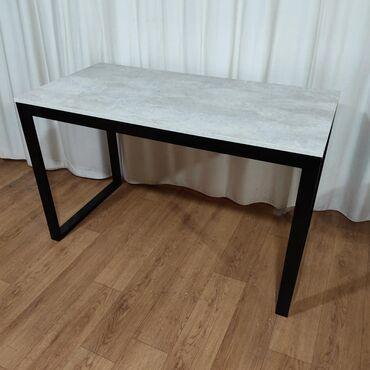Офисный стол в стиле лофт из металлического каркаса 120х60х75Хайтек