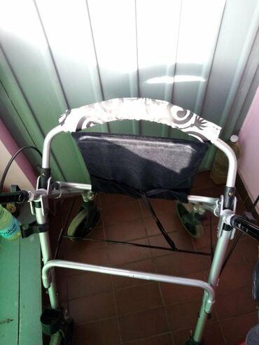 Medicinski proizvodi - Srbija: Aluminijumska hodalica, lagana, sa ruckama i 4 tocka