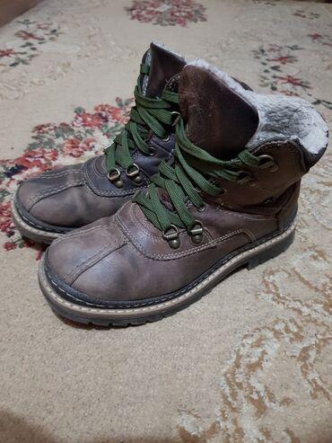 Ботинки зимние, натуральная кожа, размер 38,состояние хорошее, цена 10