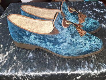 Туфли-тапочки слипперы ручной работы. Подклад из искусственного