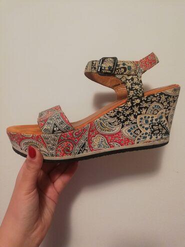 Zenska obuca - Srbija: Preudobne Esprit zenske sandale, dobro ocuvane, obuvene par puta, broj
