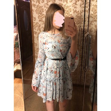 длинное платье с цветочным принтом в Кыргызстан: Нежное платье  цветочный принт  Подходит s/m