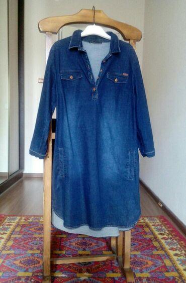 Туничка джинсовая. Размер 44-46. Новая. Стоимость 1500сом