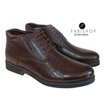 Кожаные зимние туфли. Мех натуральный