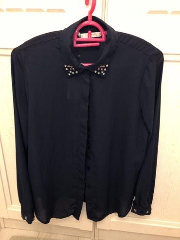 Новая блузка Зара, темно-синего цвета, в Лебединовка