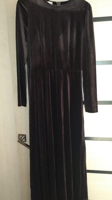 Длинное и бархатное платье. Размер 38. Новое. 800сом. KG