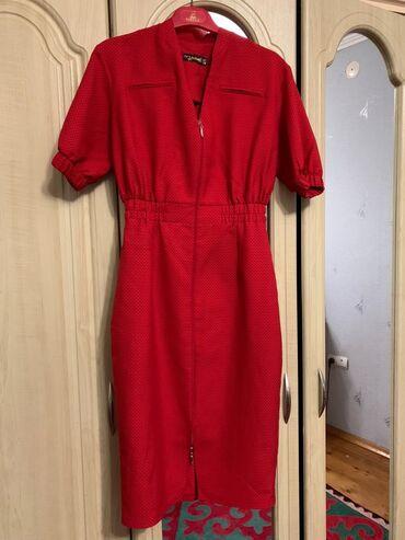 платье миди в полоску в Кыргызстан: Платье на выход Красное платье Турецкое платье в отличном состоянии