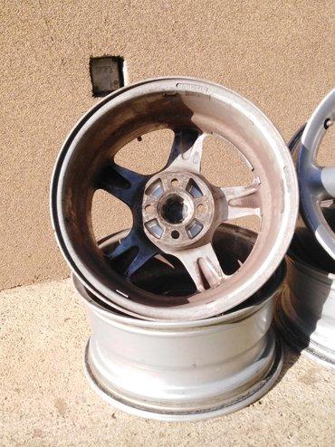 Auto oprema - Kladovo: Aluminijumske Felne 15 cola 7jota, 4×100. Metalni ventili, original