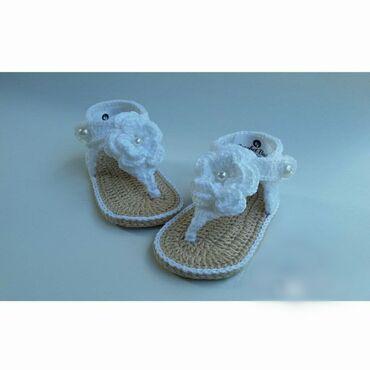 Heklane nehodajuće sandalice za bebe od pamučnog konca, ručni rad
