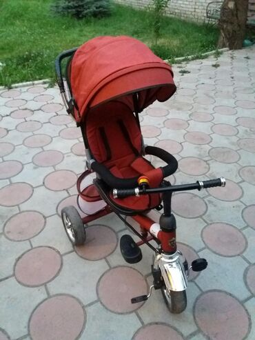 велосипед с детской коляской в Кыргызстан: Продаю детский велосипед,сост идеальное пользовались месяц. Продаю в
