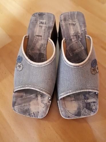 Natikače | Srbija: Papuce odlicne neostecene, 38br. imitacija dzinsa