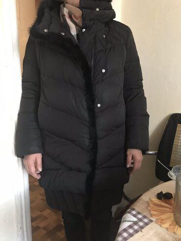удлиненную кофту в Кыргызстан: Стильная тёплая удлиненная куртка в отличном состоянии размер 46 48