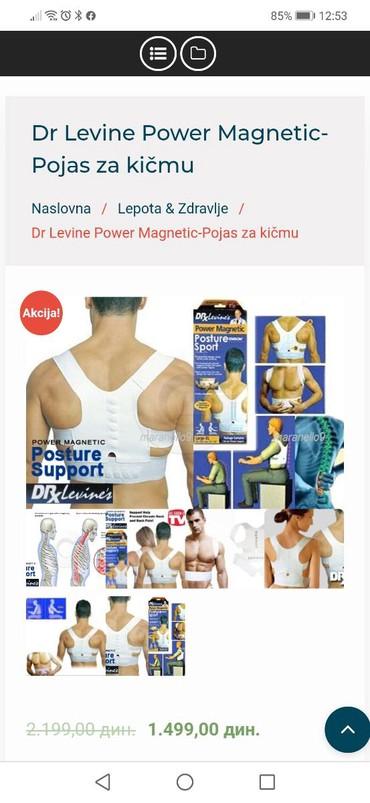 Levi - Srbija: Dr Levine Power Magnetic-Pojas za kičmuPojas za pravilno drzanje ledja