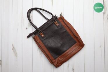 Аксессуары - Украина: Жіноча шкіряна сумка    Колір коричнево-чорний Висота 40 см Ширина 37
