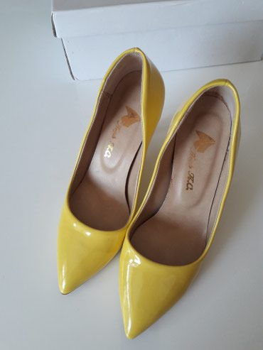 Lakovane žute cipele KAO NOVE,dva puta nošene,vel. 36. - Nis