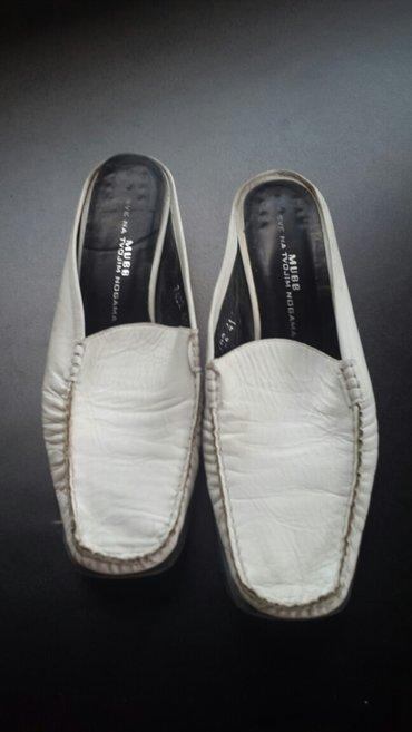 Muske-cipele-41 - Srbija: Bele kozne papuca cipele br.41