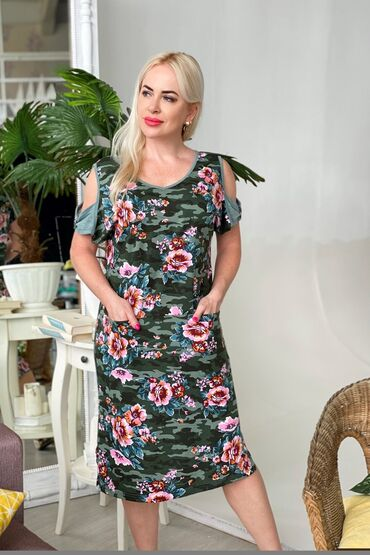 Очень красивое,необычное летнее платье. Ткань трикотаж (кулирка) . В