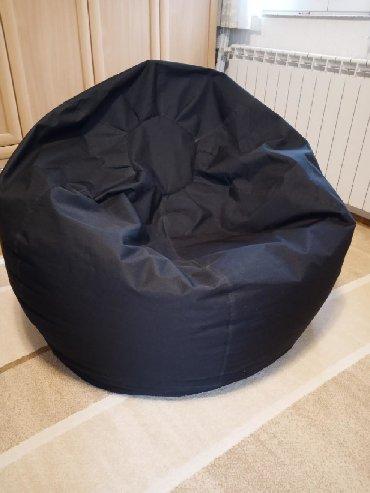 Jumbo lazy bag,crni,materijal šoteks,dimenzije 105*130cm
