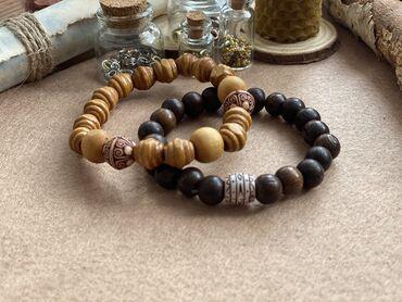 Браслеты из деревянных бусин Набор: 250 Каждый по отдельности: 130