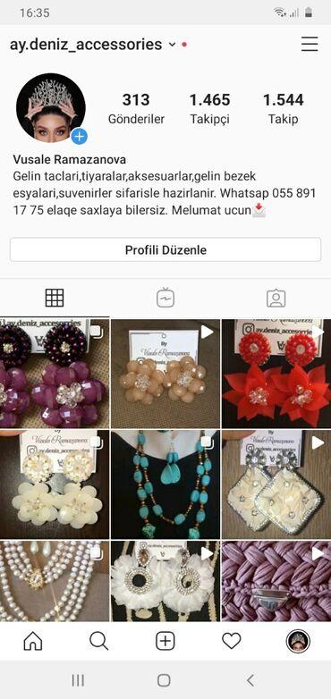 - Azərbaycan: Instaqramda en ucuz ve seliqeli el isleri aksesuarlarin hazirlanmasi