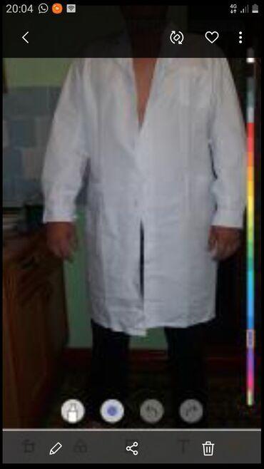 Медицинская одежда - Кыргызстан: Продаю халаты 56 р, одеты на фотоссесию