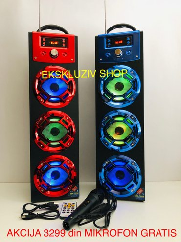 Veliki led bluetooth karaoke zvucnik mx-103 - Belgrade