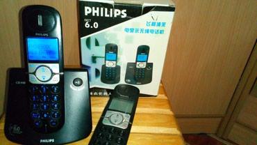 Продажа-телефон - Кыргызстан: Продаю рабочий радиотелефон PHILIPS CD 440. Две трубки. Нету базы