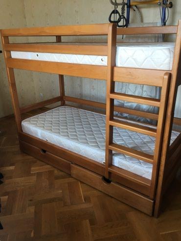 Деревянная двухярусная кровать с в Бишкек