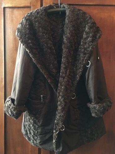 зимние развлечения в Азербайджан: Двухсторонняя зимняя куртка с капюшоном размер XL,XXL (от 48 до 52 р