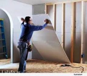 Postavljanje pregradnih zidova od siporeksa, rigips ploča (gipsane - Beograd