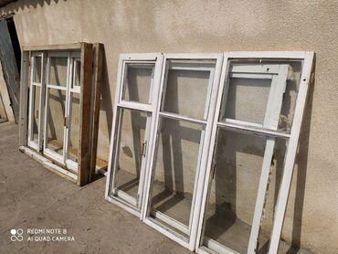 Ремонт и строительство - Кемин: Продам 2ух камерные окна 6 комплект на 6 окон из дерева состояние