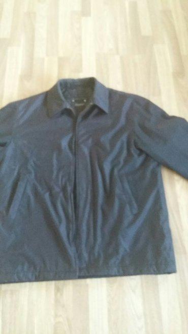 куртка мужская черная деми б/у,размер 54-46 в Бишкек