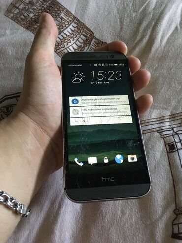 HTC - Azərbaycan: HTC One M8 satilir tek problemi sushesi sinib shekildeki kimi ama