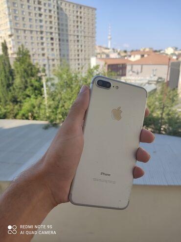 Мобильные телефоны и аксессуары - Азербайджан: IPhone 7 Plus | 128 ГБ | Серебристый Б/У | Отпечаток пальца