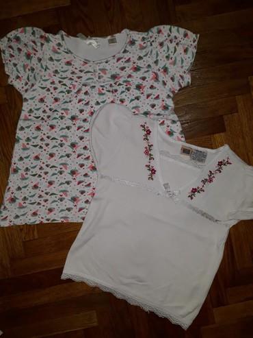Cena za obe. Sarena majica je Okaidi, a bela Faded glory, velicina za - Belgrade