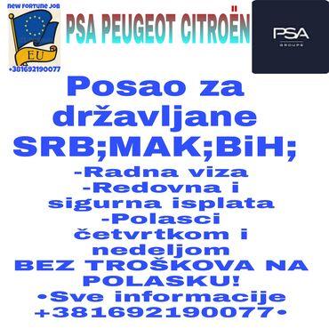 •Posao Slovačka•-Posao za državljane Srbije,Makedonije i BiH-muškarci