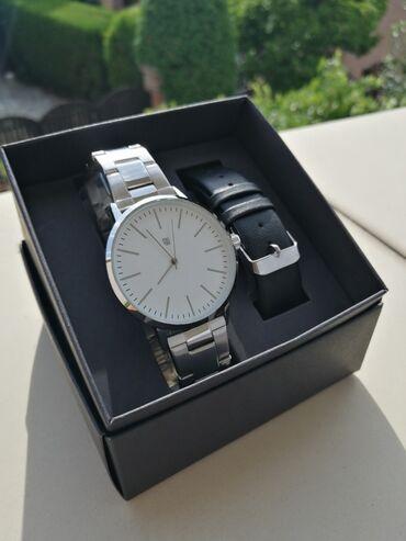 Kucici - Srbija: Muski SetMuski rucni model sata sa metalnom narukvicom+poklon kozna