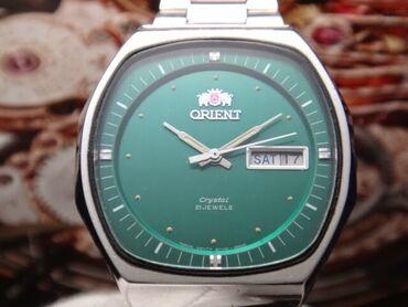 авто магнитофон бу в Азербайджан: Зеленые Мужские Наручные часы Orient