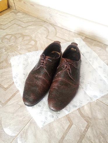 Летние мужские туфли Кожа 42 размер  Состояние б/у. 42 размер. Потерты